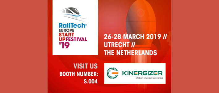 Kinergizer exhibitor at Railtech Europe